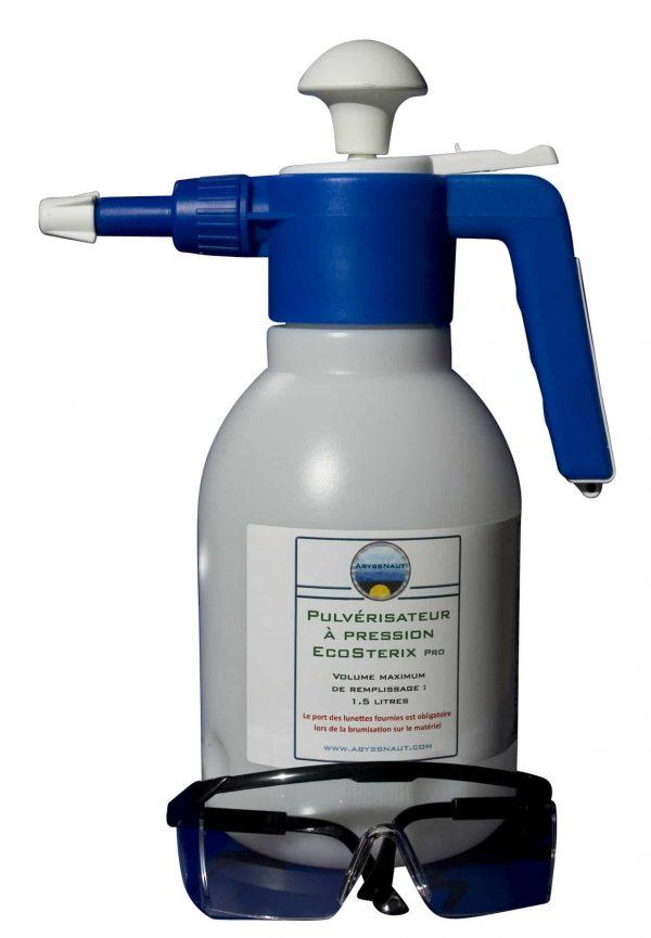 Pulverisateur à pression pour desinfection materiel de plongée et matériel sportif